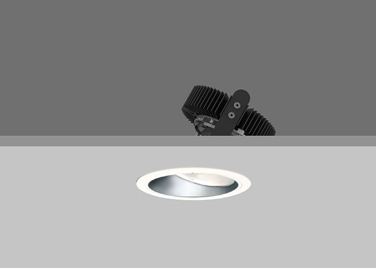 Ambiance X100  Lens Wallwasher - Satin Silver